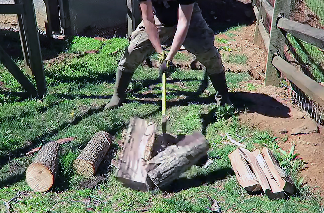 Watch: You've Been Splitting Firewood the Wrong Way