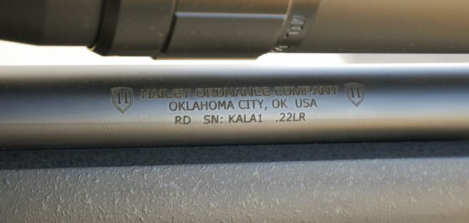 Hailey Ordnance made an integrally suppressed variation of Savage mk.II bolt action to shoot 60gr Aguila SSS .22 ammo.