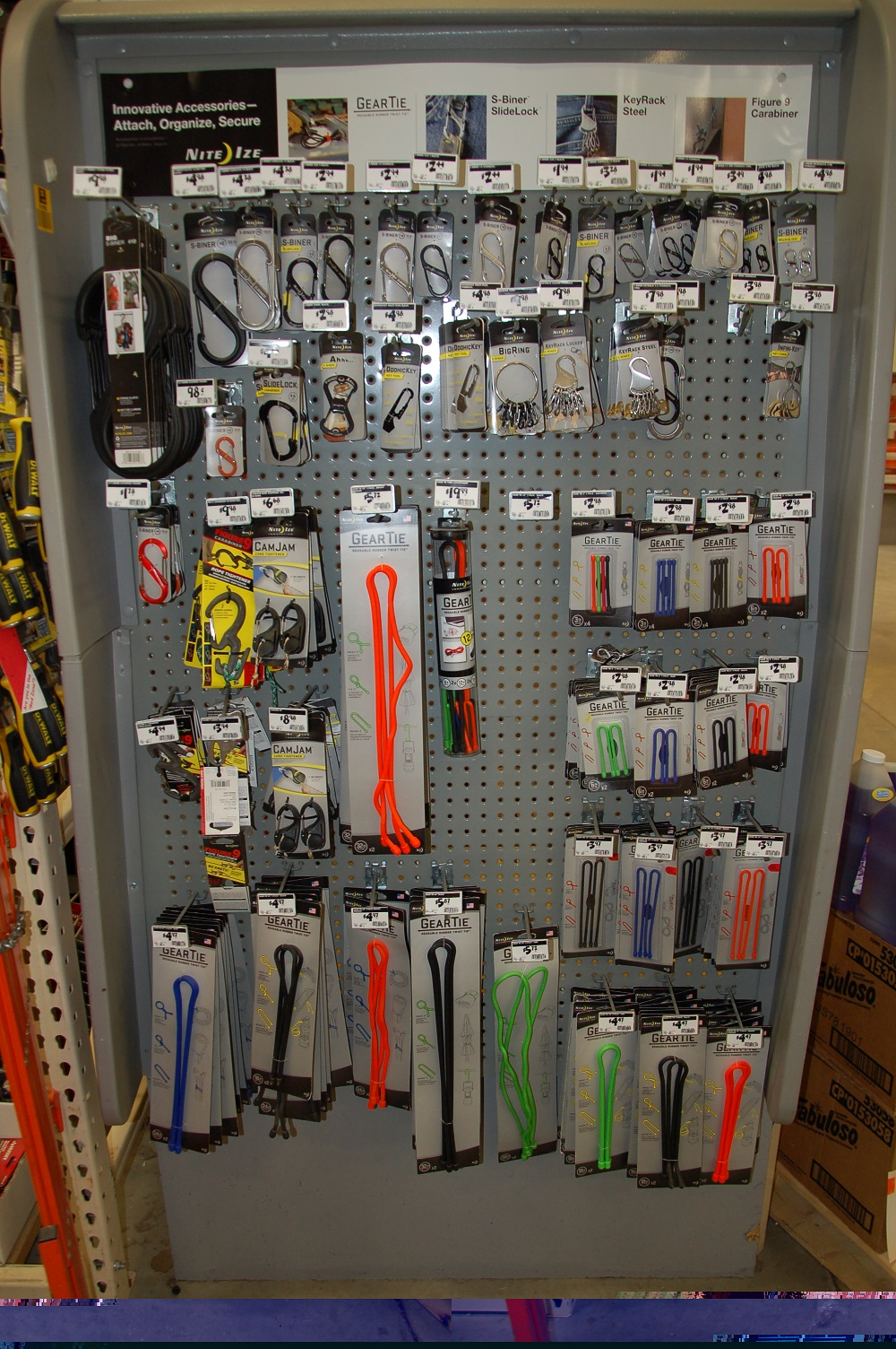 Basic Essential Series-Carabiners, Gear Ties, and Cable Ties