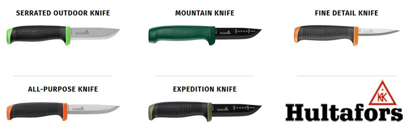 Five New Scandinavian Fixed-Blade Knives from Hultafors