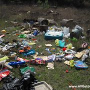 Trash in rural areas