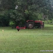 Tractor with chickens