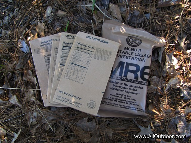 MRE for a Bug Out Bag