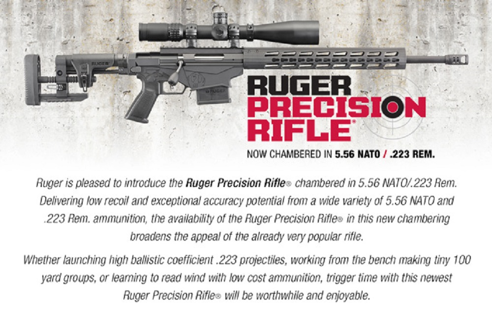 Ruger Offers 5.56/.223 in Precision Rifle