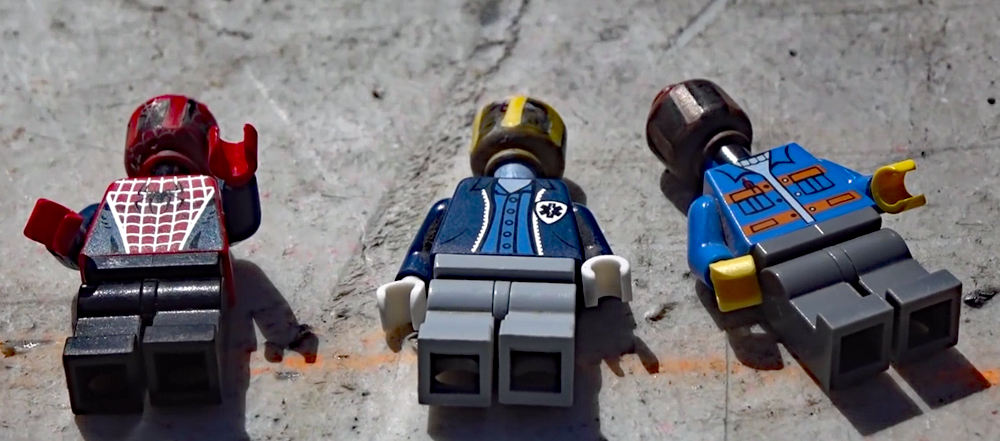 Watch: Lego Heads Loaded and Fired as Bullets