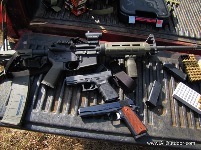 Glock 1911 and AR-15