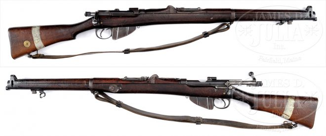 SMLE 1902 test rifle, type A (Photo: James D. Julia, Auctioneers)