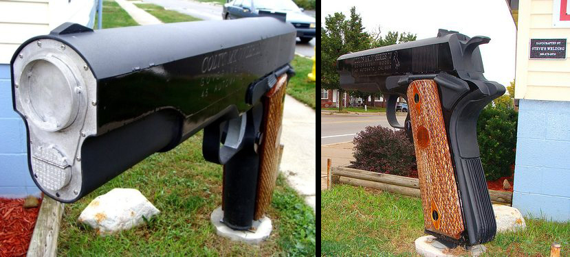 12 Cool Guns & Ammo Mailboxes