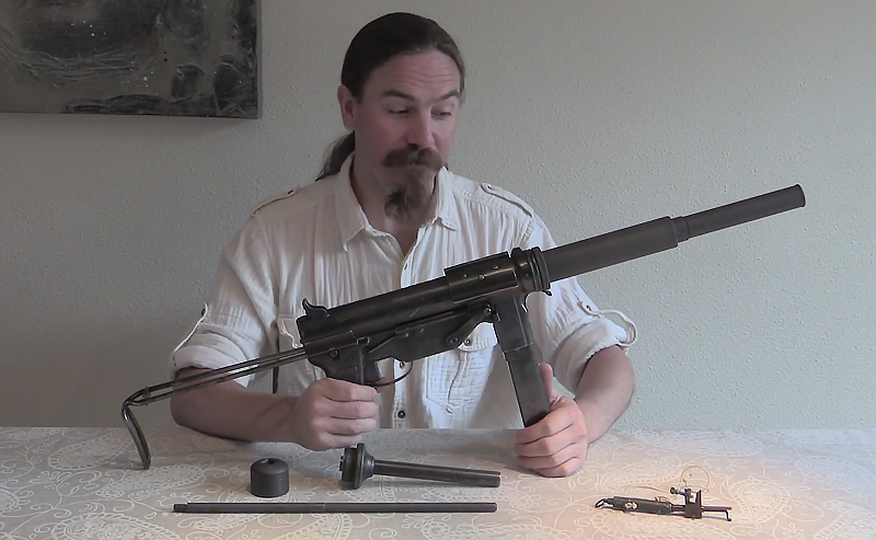 "Watch: Suppressed OSS M3 Grease Gun and ""Bushmaster"" Booby Trap"