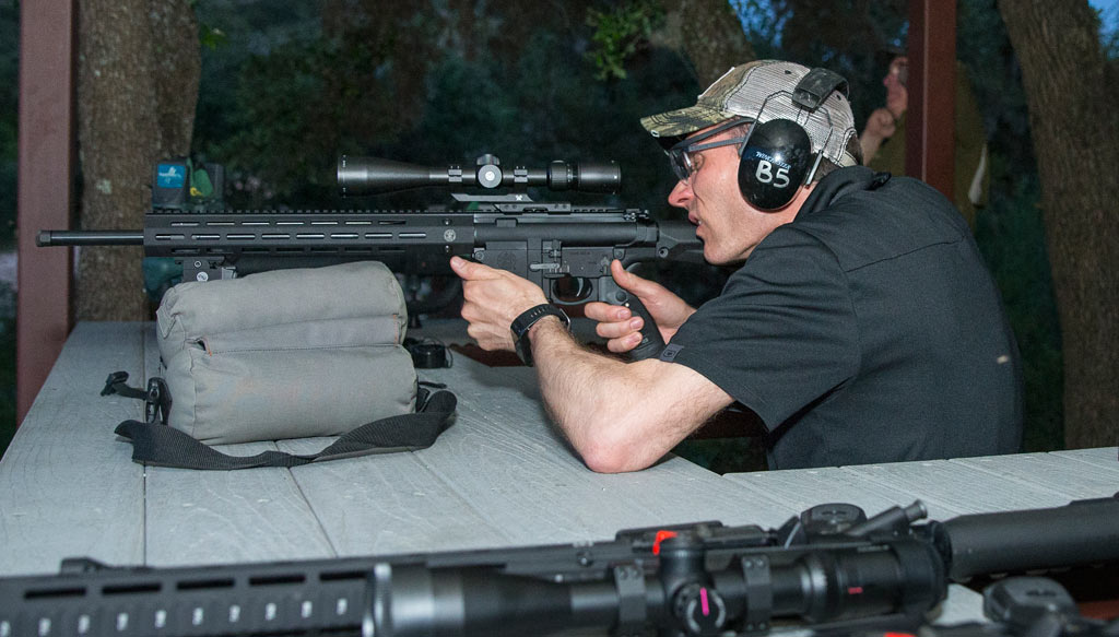Sighting In Smith & Wesson M&P 10 with Crimson Trace Laser Sight