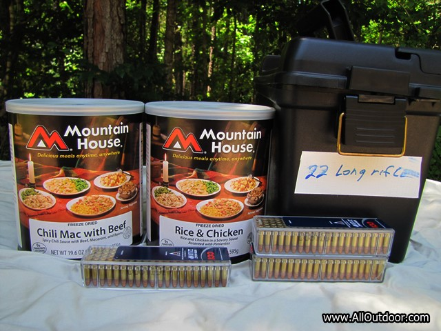 Freeze dried food 22 long rifle