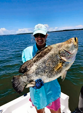 Giant Tripletail Caught In Georgia, Setting New State Woman's Record