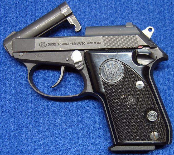 Beretta 3032 Tomcat with barrel tipped up. (Photo © Russ Chastain)