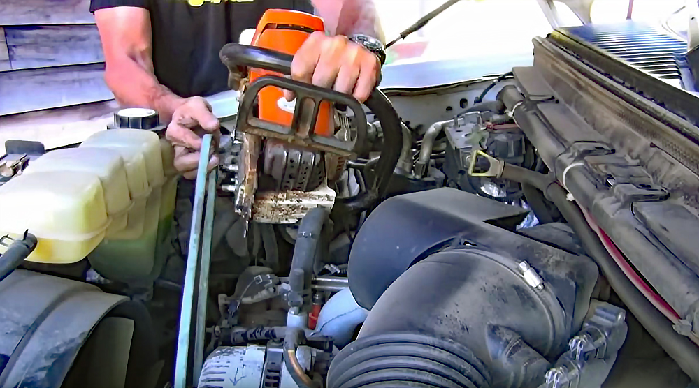Watch: Use a Chainsaw to Charge a Car Battery
