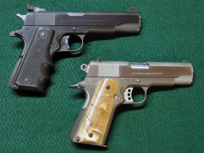 A couple Colt 1911-style pistols. (Photo © Russ Chastain)