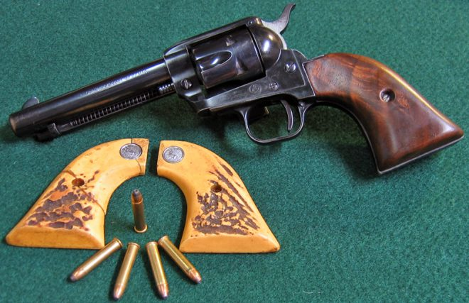 Colt Frontier Scout '62 revolver in 22 WMR. (Photo © Russ Chastain)
