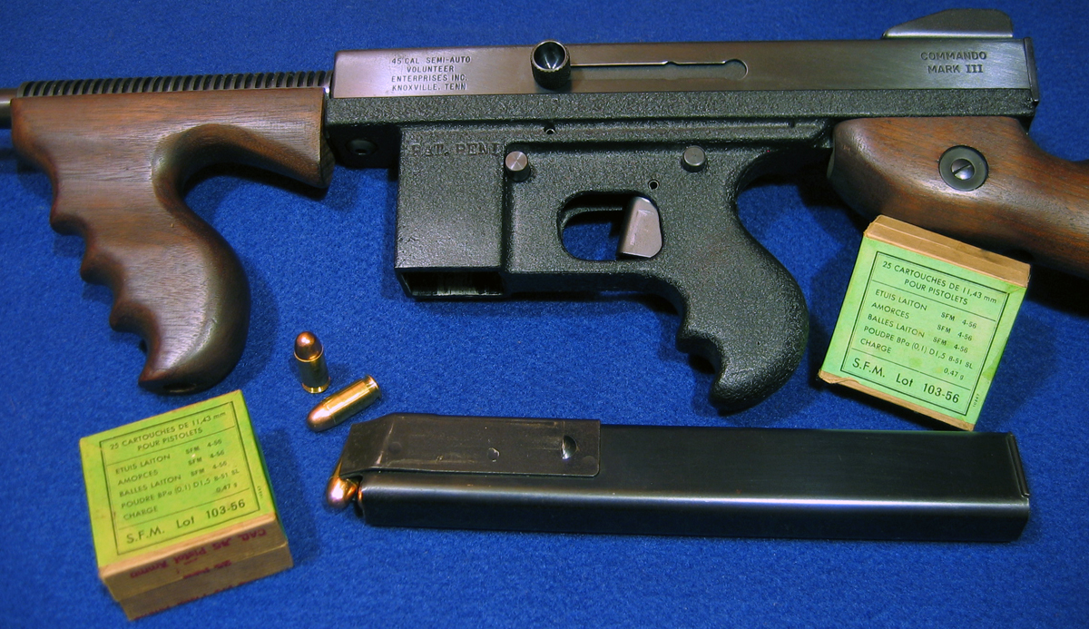 "6 Photos of a Commando Mark III ""Genuine Imitation"" Tommy Gun"
