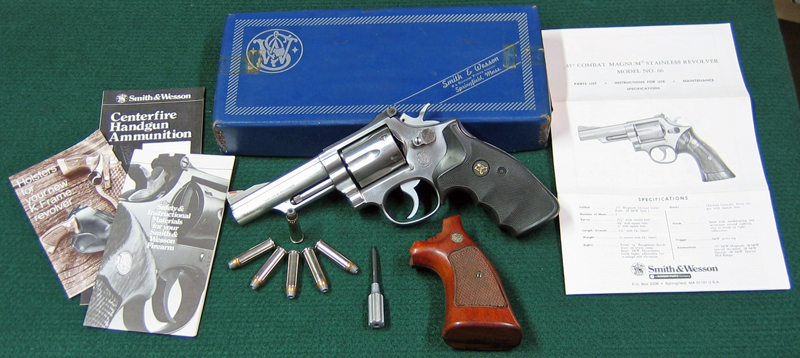 Smith & Wesson Model 66 357 Magnum Stainless Combat Revolver with original box & paperwork. (Photo © Russ Chastain)