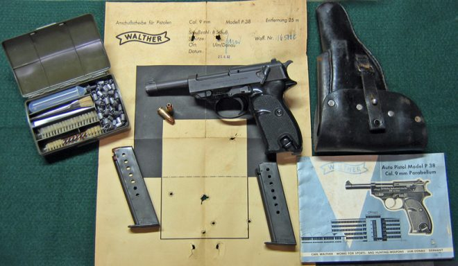Post-War Walther P38 and accessories. (Photo © Russ Chastain)