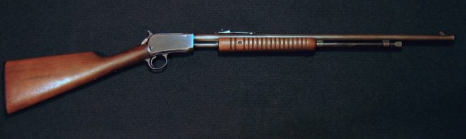 Right side of Winchester Model 62A 22 rifle. (Photo © Russ Chastain)