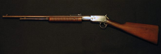Left side of Winchester 62A pump gun. (Photo © Russ Chastain)