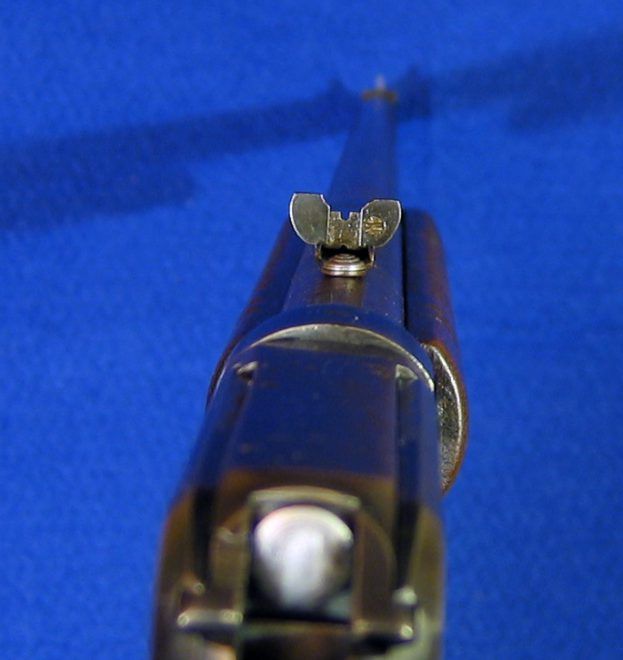 62A's rear sight. (Photo © Russ Chastain)