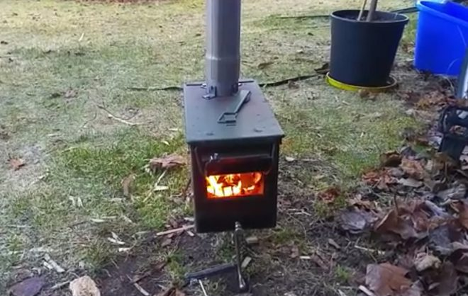 Say you have a lot of time on your hands a little money and no means or ability to weld. Oh and you also want to chop up a steel ammo box ... : tent wood stove plans - afamca.org