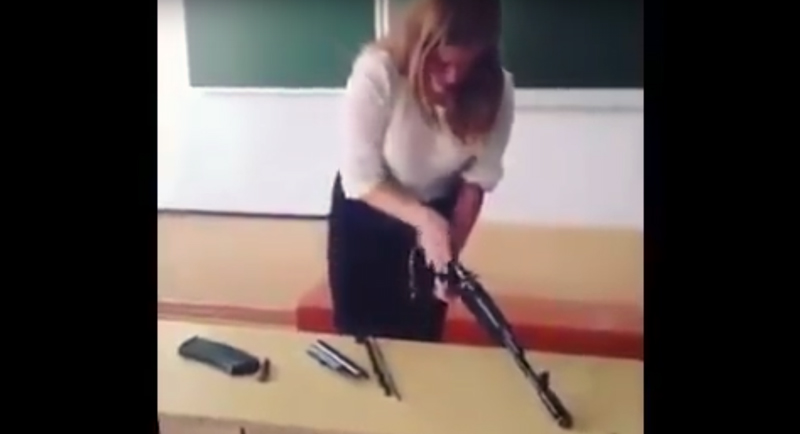 Watch: Russian Young Lady vs. an AK