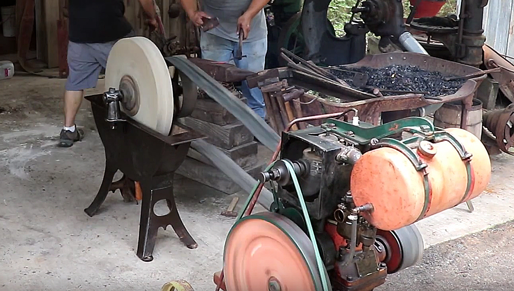 Watch: Putting an Antique Grindstone Back to Work