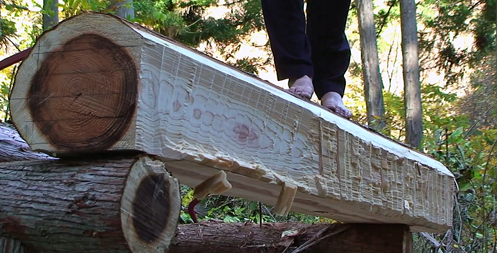 Watch: 4 Videos of hand-Hewing Logs