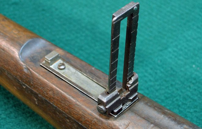 Rear sight. The base has been derusted with Evapo-Rust (Photo © Russ Chastain)