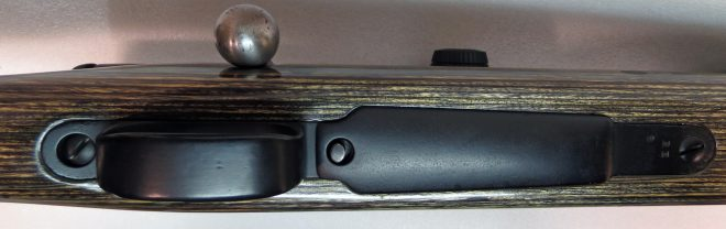 Black bedding compound was used to fill gaps around the trigger guard/floor plate assembly. It blends in nicely. (Photo © Russ Chastain)