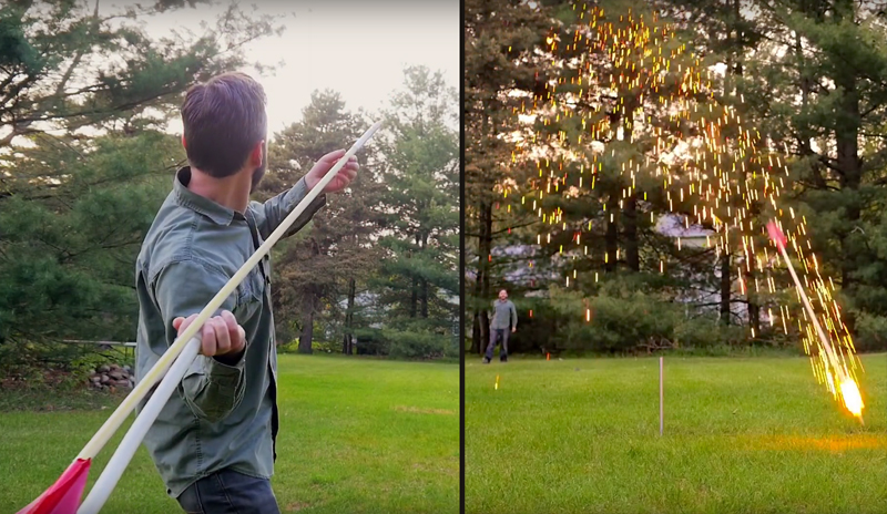 Watch: Make a PVC Atlatl & Flaming Spears