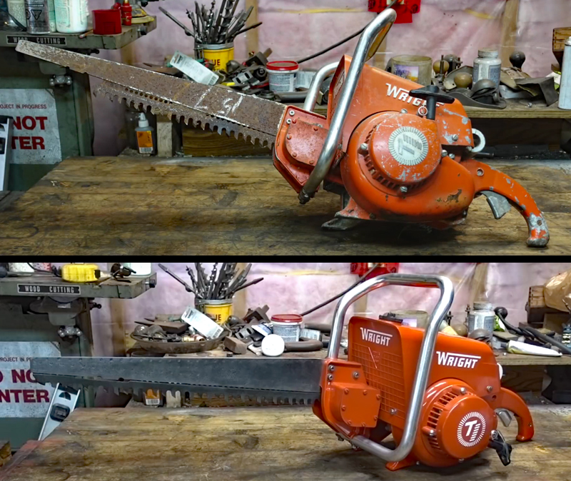 Watch: Restoring a Gas-Powered Reciprocating Saw