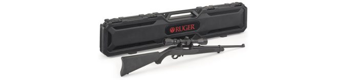 Ruger 10/22 with scope and case