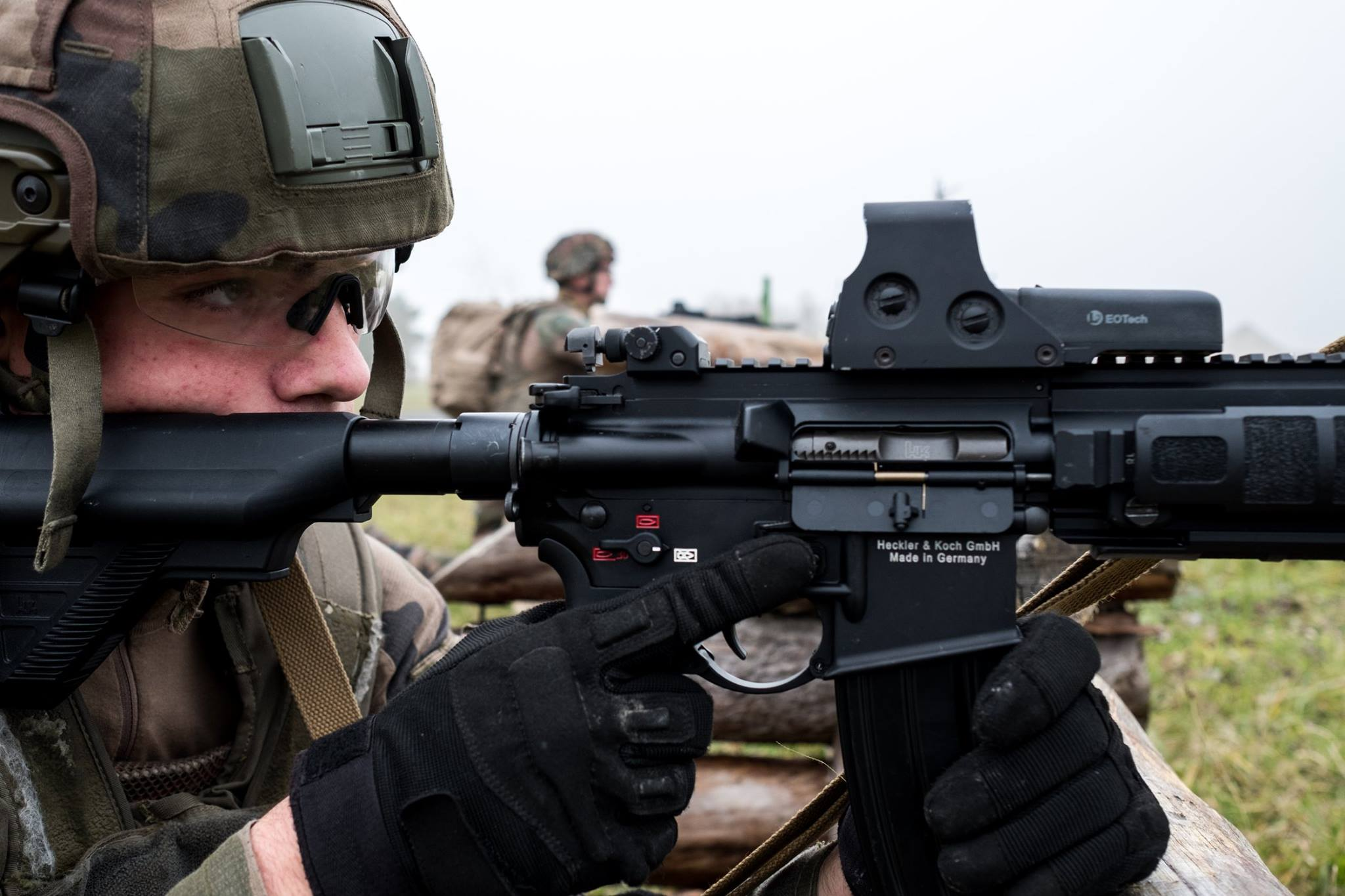 French Army HK416F Rifles Deployed with Eotech 552