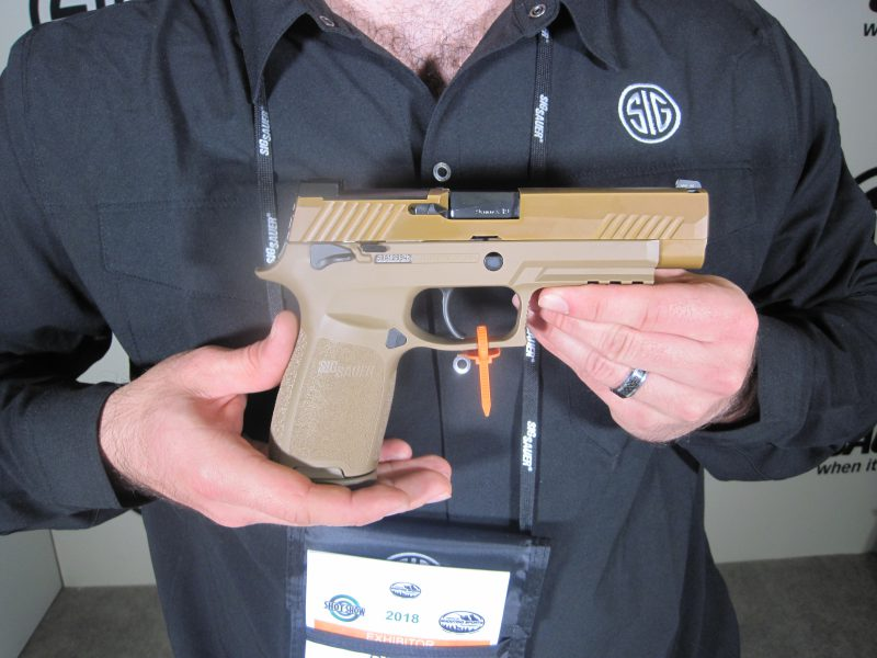 A Look at the Sig Sauer M17 Pistol at the 2018 SHOT Show
