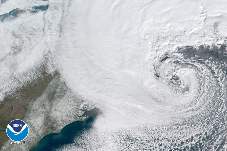 Bomb Cyclone Explodes Over Northeast