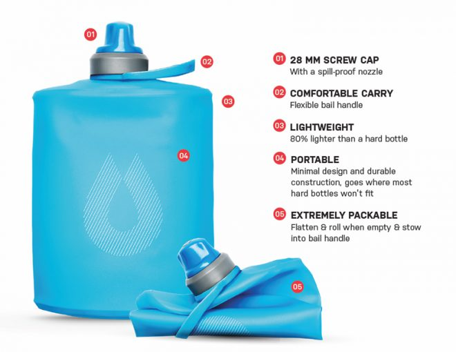 Stow water bottle (Image: HydraPak)