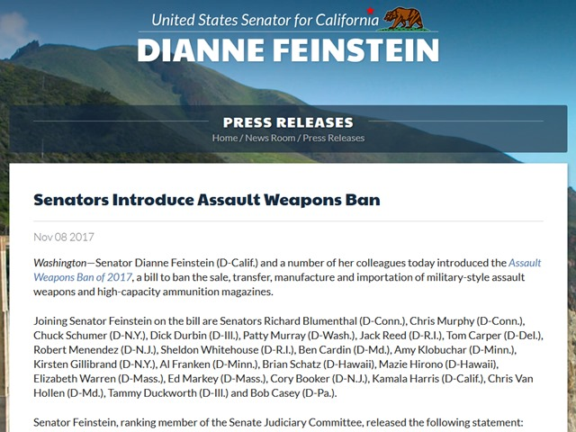 Democrats Introduce Symbolic Assault Weapons Ban