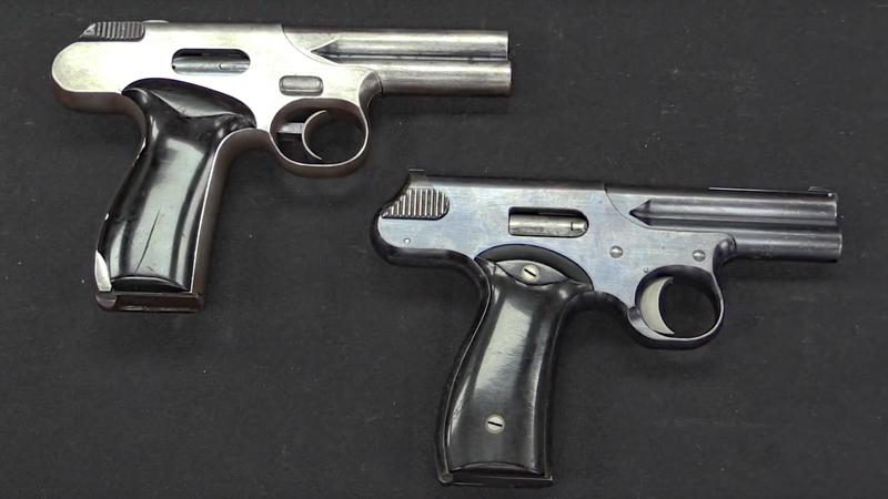 Watch: A Mysterious Pair of Experimental Pistols