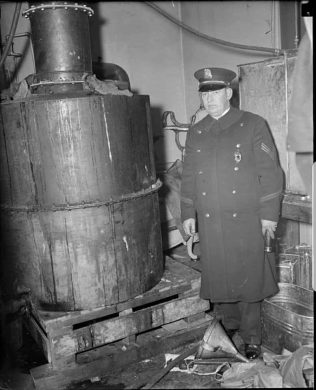 """""""Revenuers"""" would confiscate and/or destroy any alcohol, causing many Americans to die from tainted batches of home brewed liquor."""