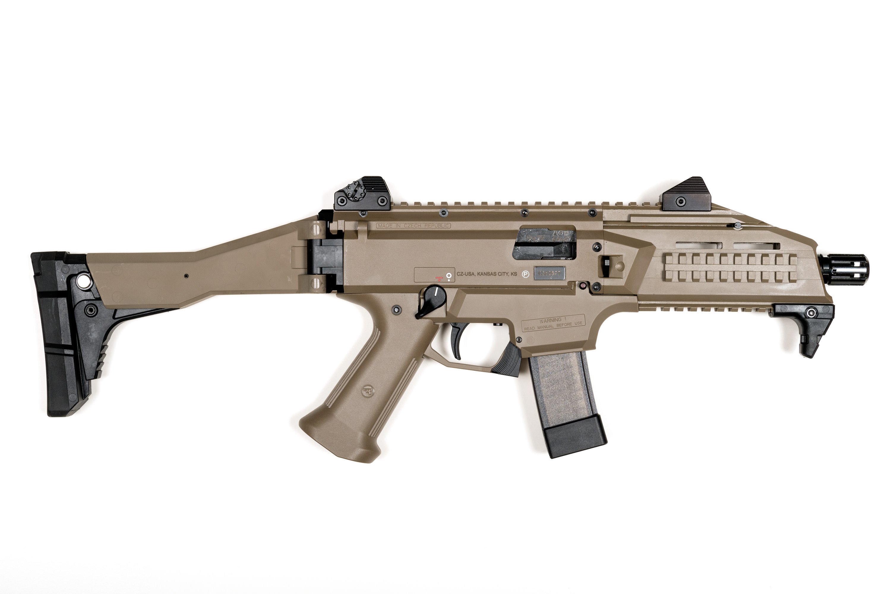 CZ Scorpion Evo 3 S1 9mm in full FDE