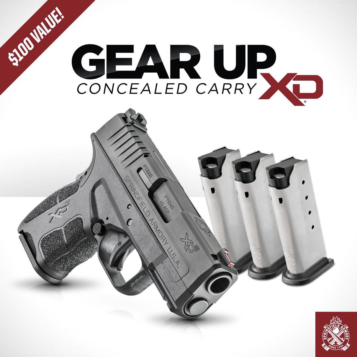 Springfield Armory Announces Their Latest Gear Up Pacakage: Gear Up: Concealed Carry XD