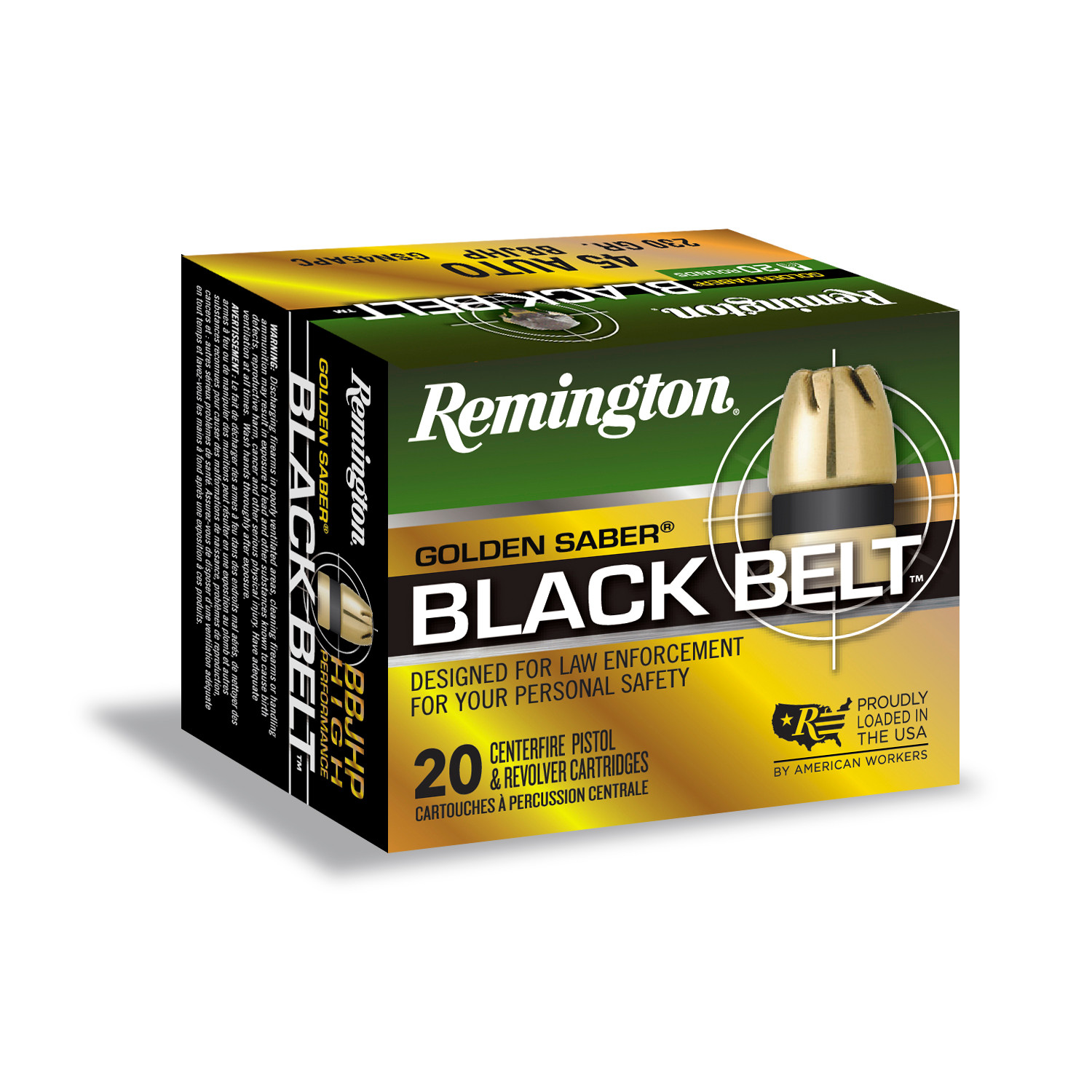 New from Remington: Golden Saber Black Belt 45 Auto