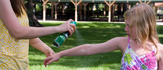 The Center for Disease Control suggests looking for insect repellent with at least 20% Deet.