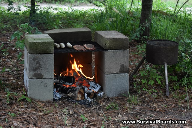 Building a Homemade Cinder Block Grill
