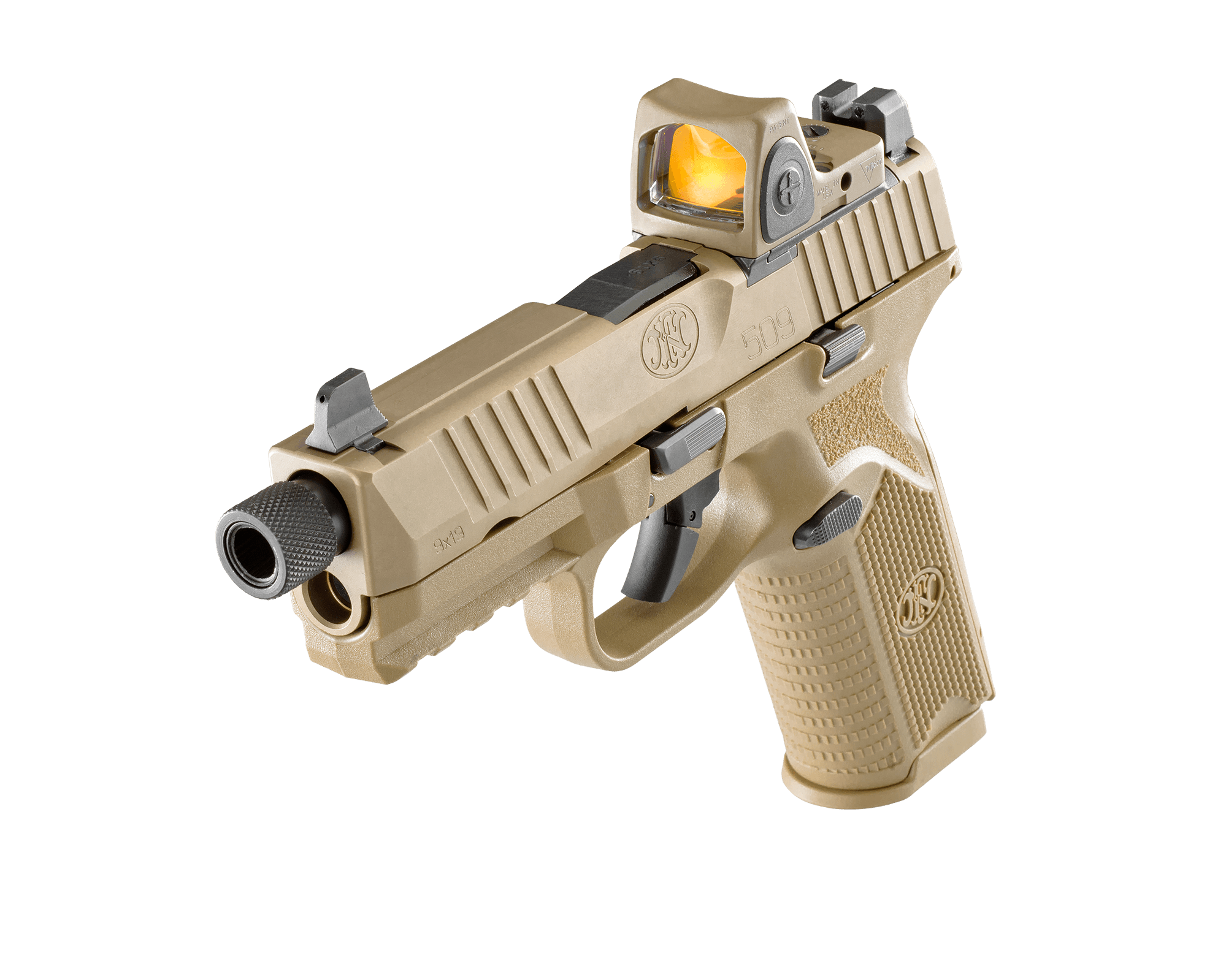 FN 509 Tactical 9mm Pistol with Innovative Patent-Pending Low-Profile Optics Mounting System