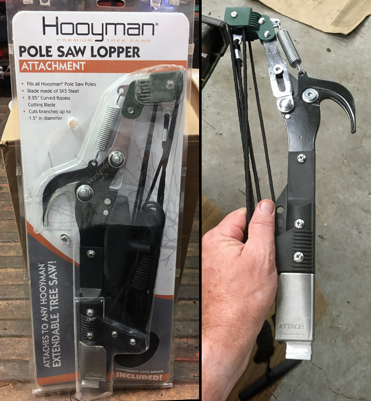 Hooyman pole saw lopper pruner