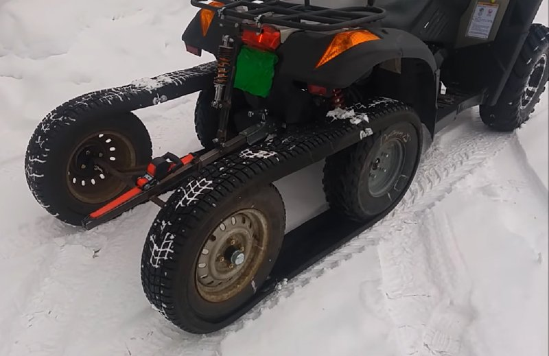 DIY ATV Half-Track Made of Old Snow Tires
